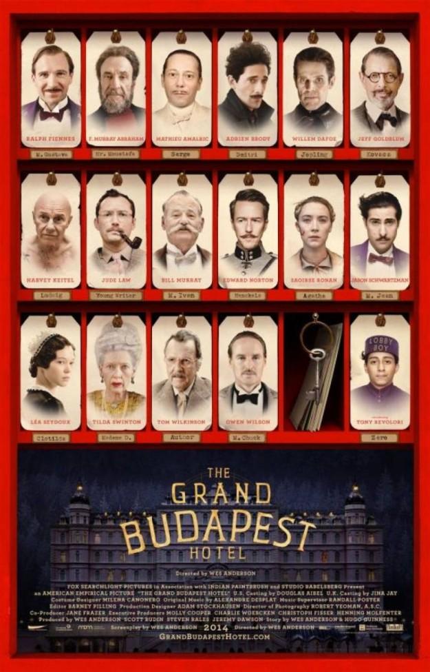 Cartel del Gran Hotel Budapest.