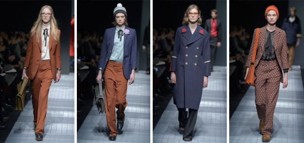 Los cuatro 'outfits' femeninos del desfile de Gucci en la Milan Men's Fashion Week.