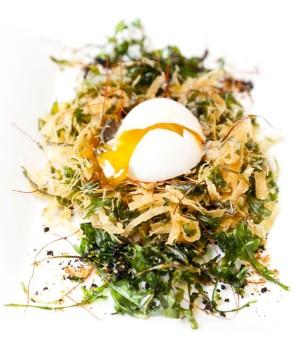 Huevo en nido.