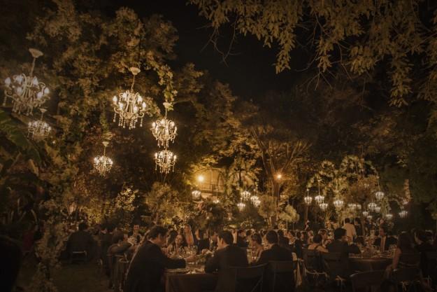 El banquete se celebró bodegas González Byass y el catering corrió a cargo de La Buganvilla.