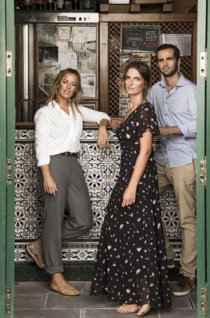 Lucía, Casilda y Curro Sánchez Varela.