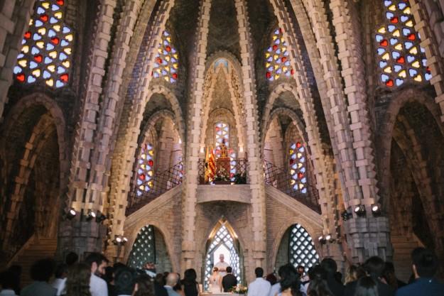 La ceremonia religiosa que unió en matrimonio a Inés y Juan, se celebró en Tarragona, concretamente en el Santuari Mare de Deu de Montferri.