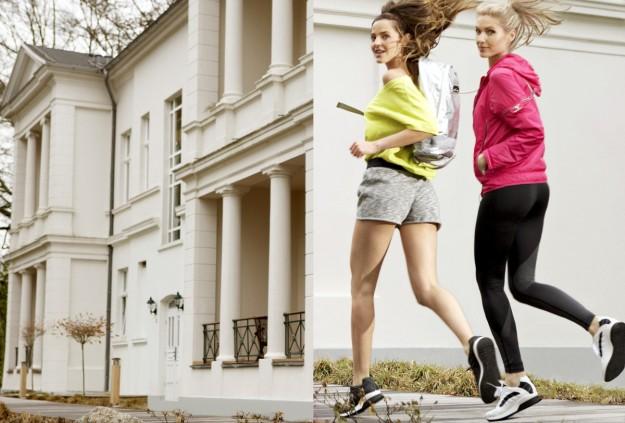 Dos chicas corriendo.