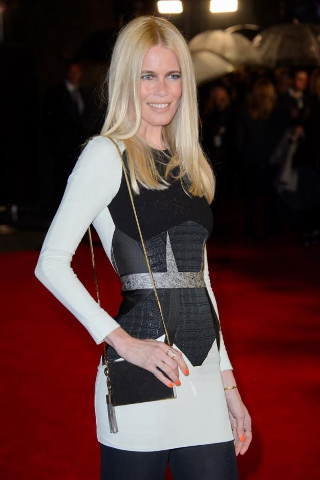 Claudia Schiffer en una premier en Londres a principios de año.