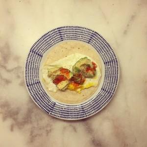 Burrito de aguacate de Karlie Kloss