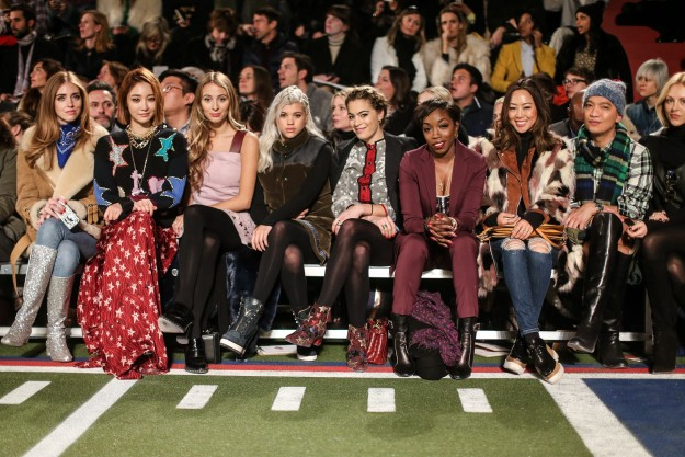 El 'front row' de Tommy Hilfiger, uno de los más completos de la 'fashion week' neoyorquina.