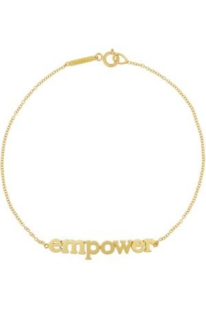 Esta pulsera de oro de Jennifer Meyer tiene el emblema de esta colección cápsula