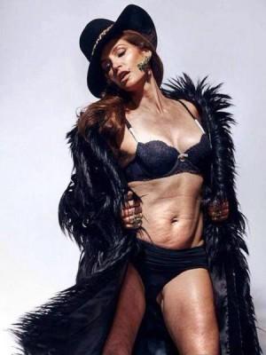 Cindy Crawford sin retoques fotográficos