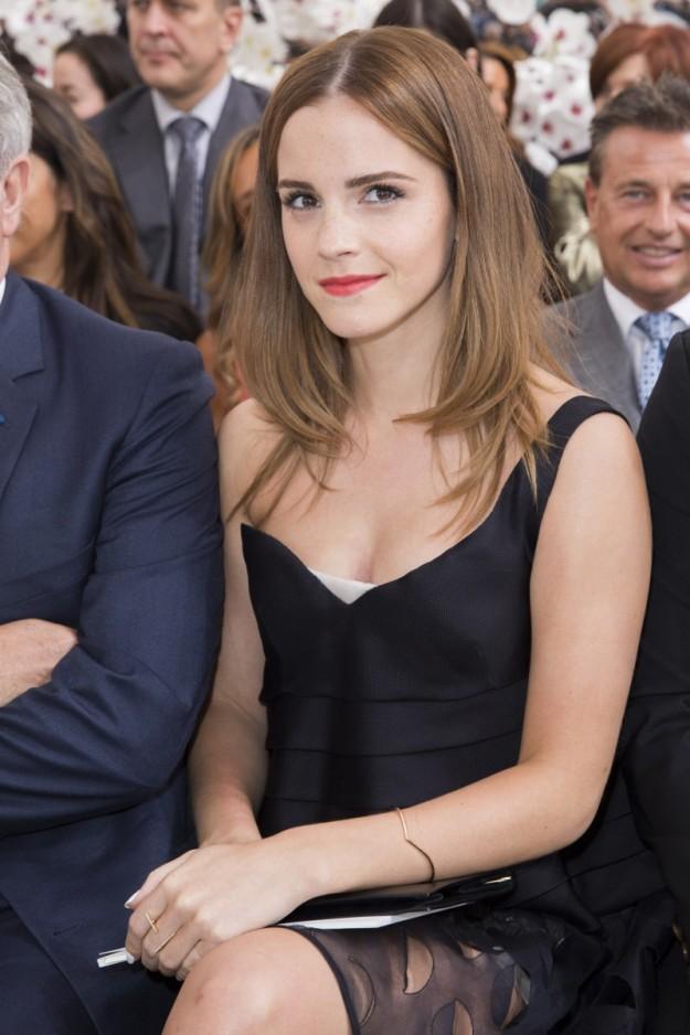 La actriz es, además, una confesa amante de la moda. En la imagen, en un desfile de Dior.