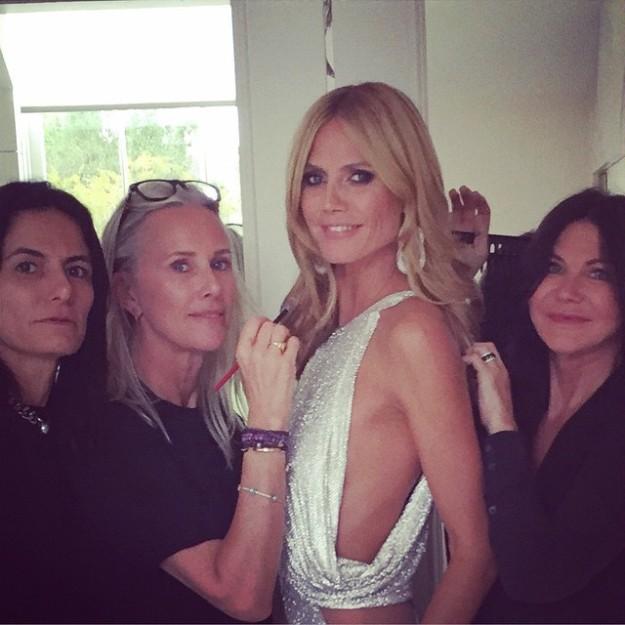 ¿Cuántas maquilladoras necesita Heidi Klum para lucir impecable la noche de los Oscar?