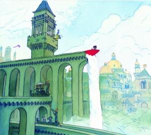 Ilustración del libro Imagina de Aaron Becker.