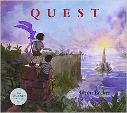 Portada americana del segundo libro de la trilogía: Quest
