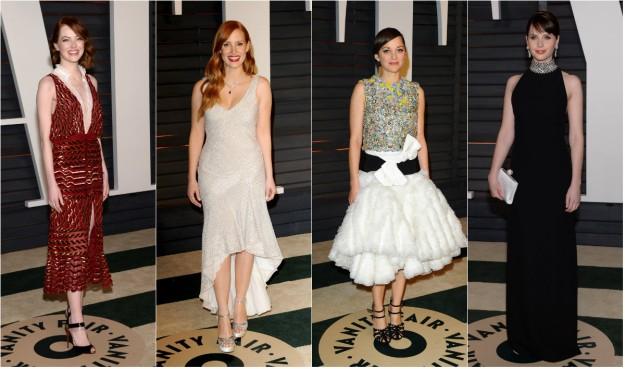 Emma Stone, Jessica Chastain, Marion Cotillard y Felicity Jones.