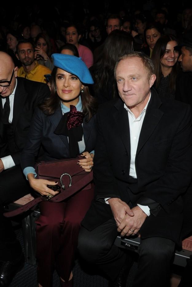 Salma Hayek y su marido, François-Henri Pinault, el presidente de Kering, 'holding' al que pertenece Gucci.