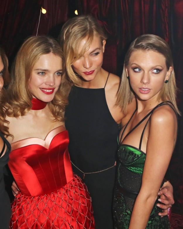 Natalia Vodianova, Karlie Kloss y Taylor Swift.