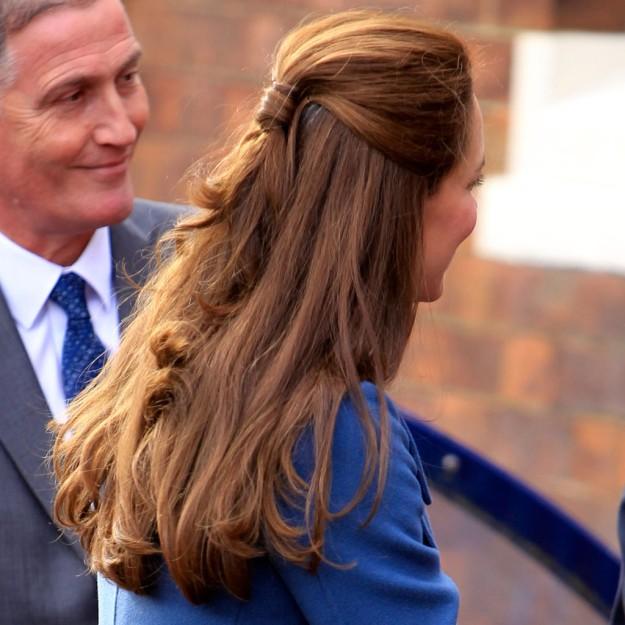 Peinados working girl: el semirrecogido lady de Kate Middleton