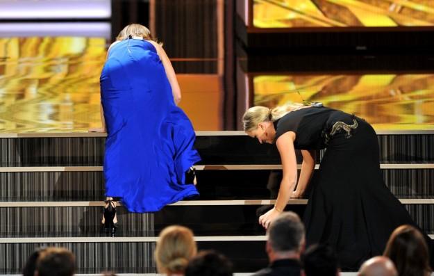 Tina Fey y Amy Poehler utilizan el humor en sus discursos