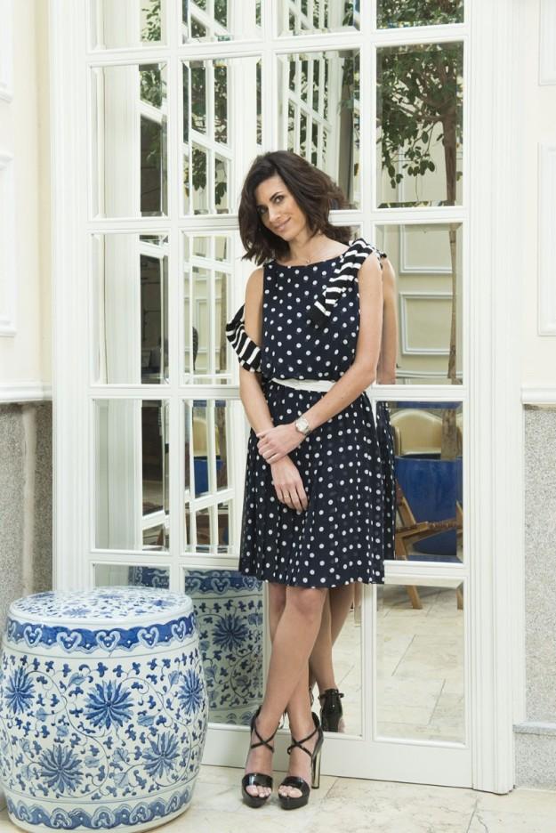 Gema Aznar con look de Lauren Ralph Lauren