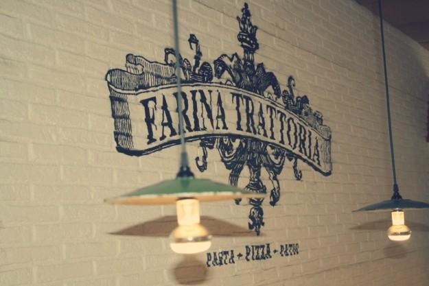 Decoración de Farina Trattoria en Barcelona.