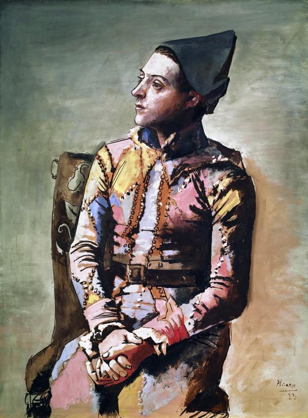 Arlequín sentado, de Pablo Picasso.