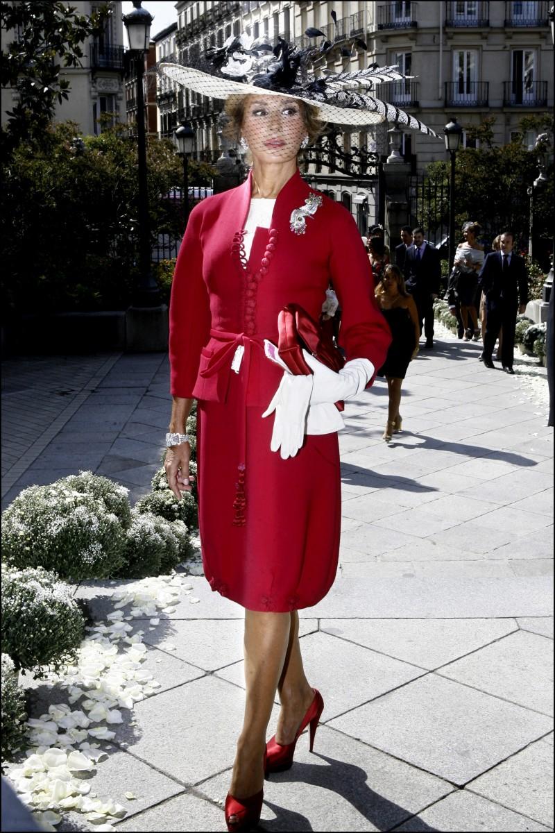 Vestidos rojos para la mama de la novia