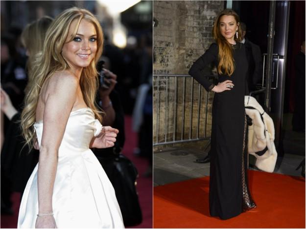 Lindsay Lohan en 2007 y 2015.