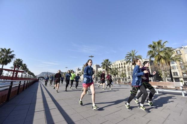 Mañana de running por Barcelona.