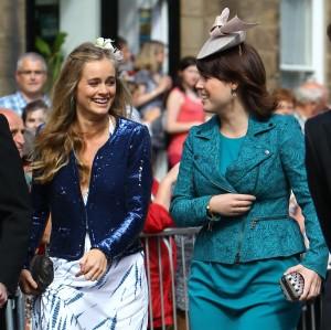 En una boda en Londres con la princesa Eugenia cuando todavía salía con el Príncipe Harry de Inglaterra.