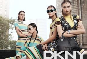 Campaña de DKNY Primavera Verano 2015 con Cara Delevingne.