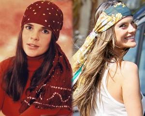 Pañuelo años 70: Ali McGraw y Alessandra Ambrosio
