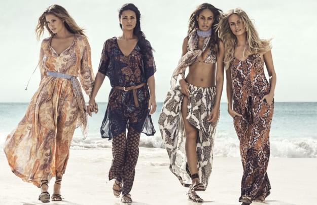 La nueva campaña de H&M cuenta con Joan Smalls, Natasha Poly, Doutzen Kroes y Adriana Lima