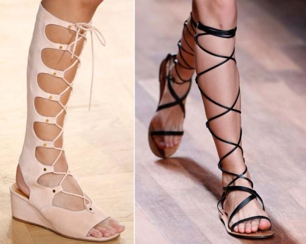 Sandalias de Chloé y Valentino