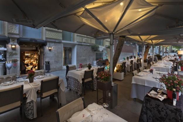 Terraza del restaurante Hevia
