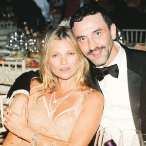 Nos encanta esta foto de Kate Moss y Riccardo Tisci