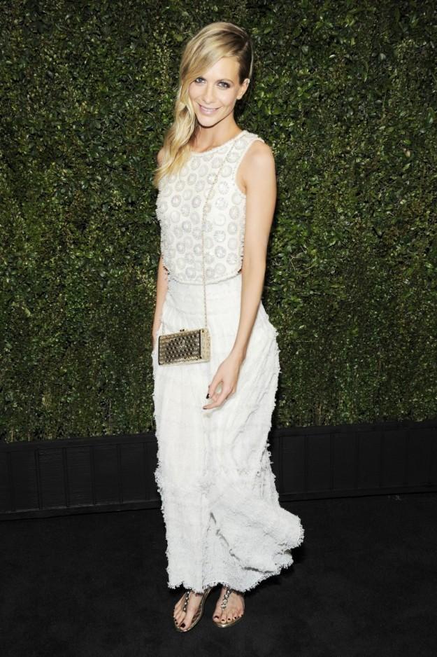 Poppy Delevingne en una cena previa a los Oscars 2015.