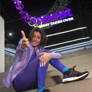 Vanessa Veiga, Adidas runner, con las zapatillas Ultra Boost de Adidas
