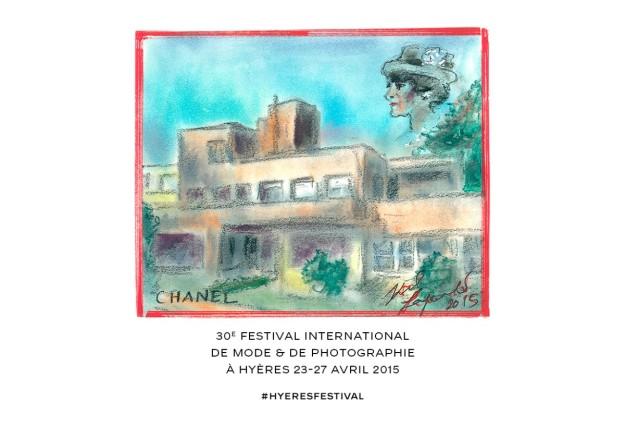 Ilustración realizada por Karl Lagerfeld para el festival.