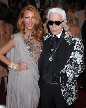 Karl Lagerfeld y Blake Lively