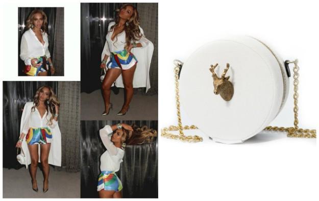 La cantante Beyoncé con un bolso de la diseñadora española Carla López