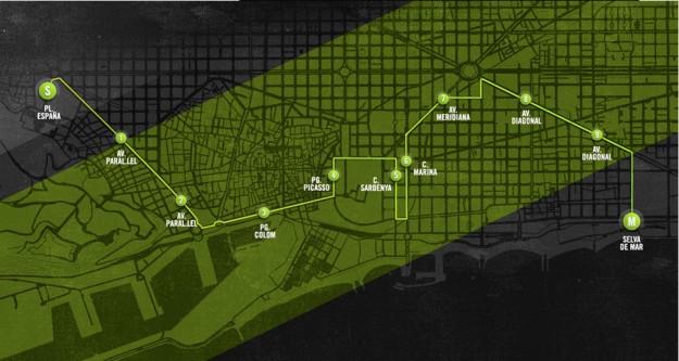 Circuito de We Run Barcelona.