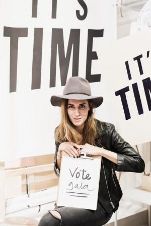 La blogger Gala González no se perdió el estreno de Vote Audrey