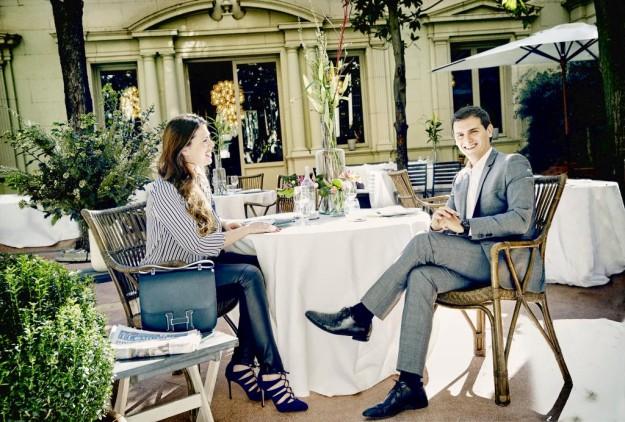 Albert Rivera en el restaurante El Principal de Barcelona