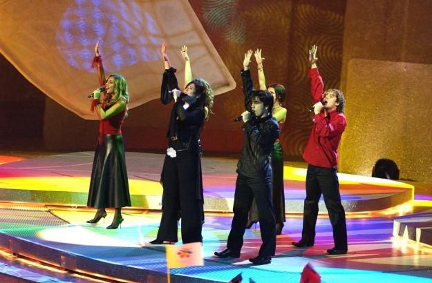 Rosa en Eurovisión.