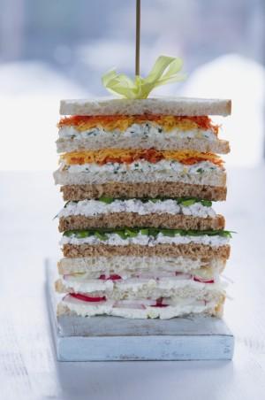 Para desayunar los días 1 y 3, deberás prepararte un sándwich vegetal
