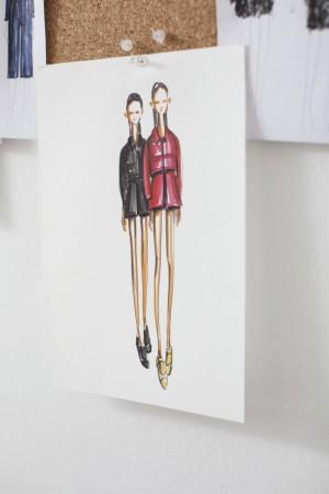 Bocetos de su colección del próximo invierno 2015.