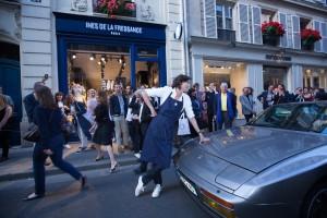 Inès de la Fressange en la inauguración de su tienda la semana pasada en París.