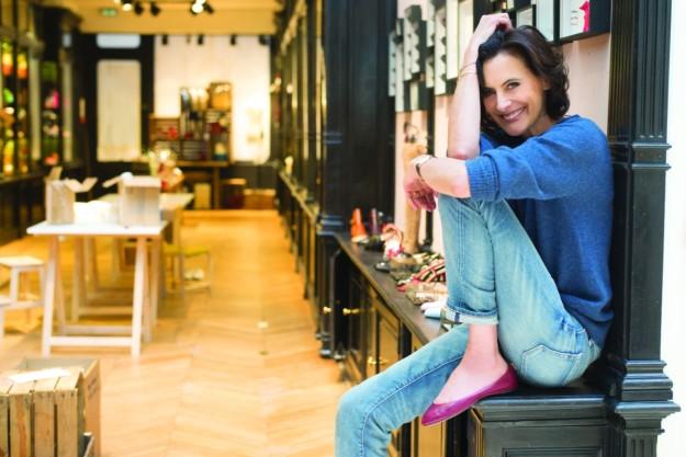 La ex modelo y ahora empresaria, en su nueva boutique.