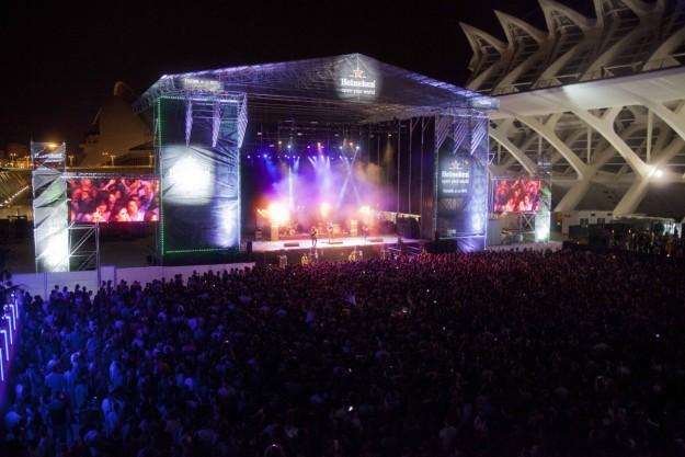 Escenario Heineken en el Festival de Les Arts.