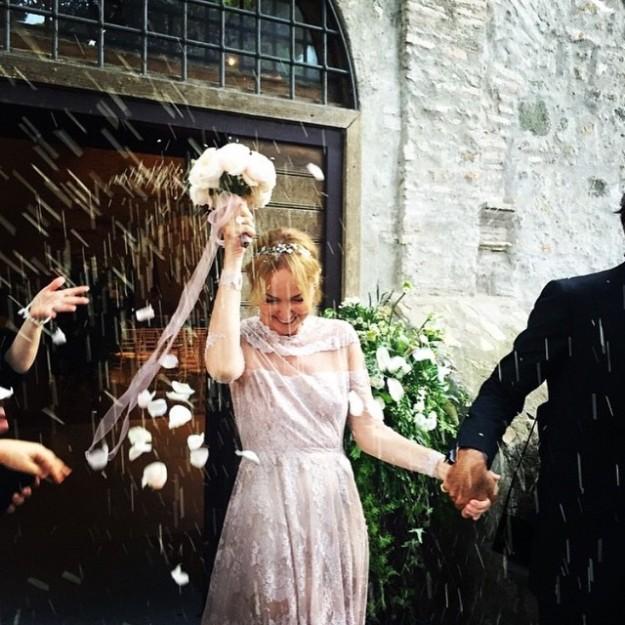 Frida no podía ocultar su felicidad el día de su boda