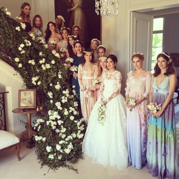 Los vestidos de las damas de honor fueron diseñados por Margherita Missoni